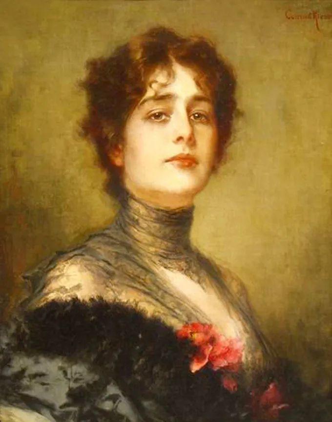 德国画家康拉德油画里的优雅女子,美!插图21