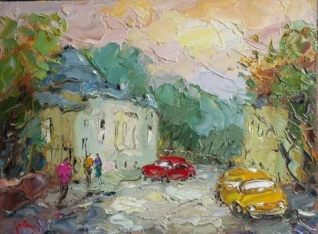 俄罗斯画家 弗拉基米尔·苏科瓦蒂 刮刀油画作品欣赏插图87