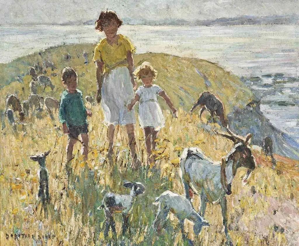 充满着写意风格的绘画,20世纪英国最伟大的女画家之一夏普插图25