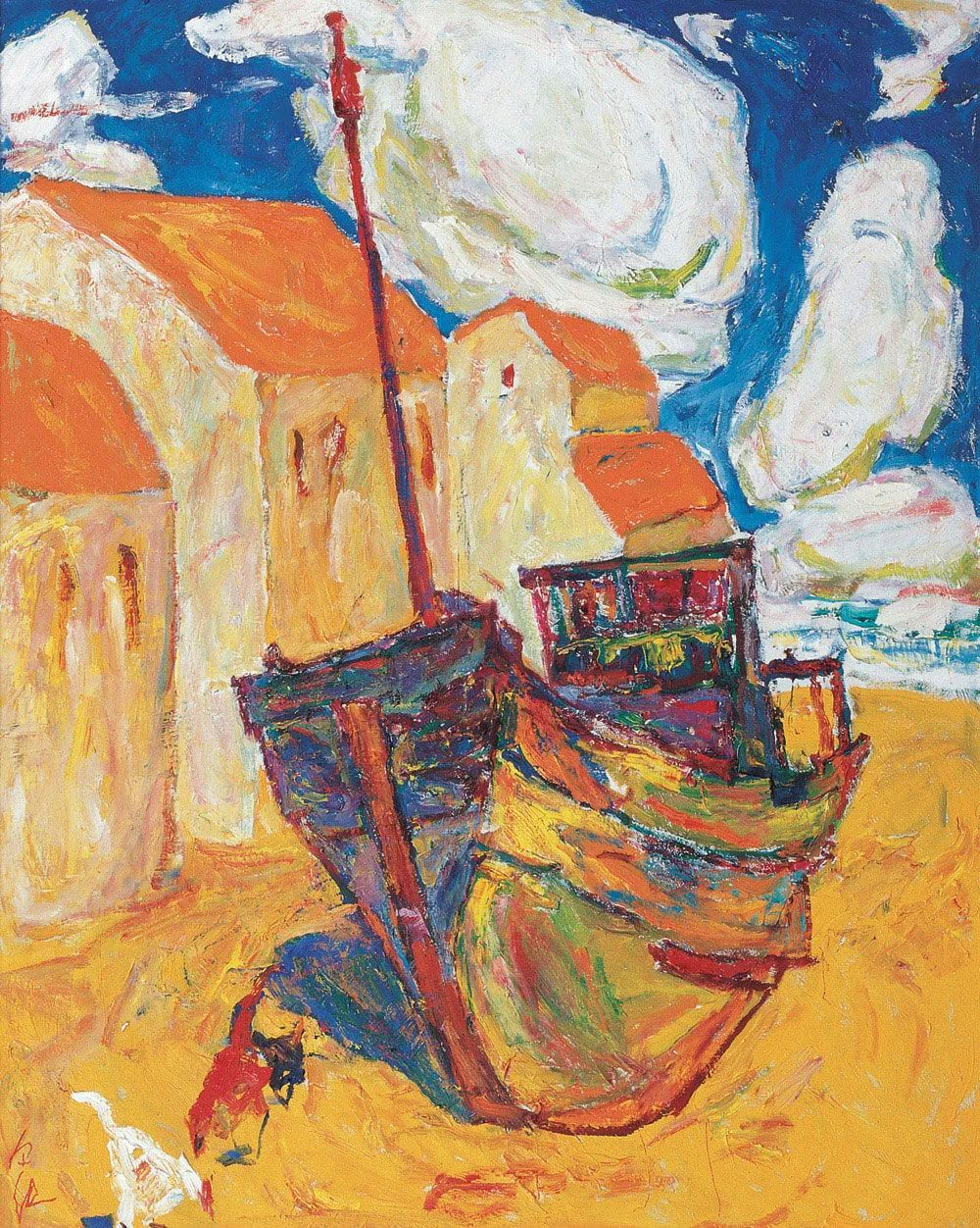 浓烈、明亮、斑斓、恣肆的色彩,这油画美极了插图63