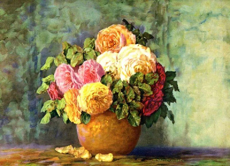 学医的他,37岁才开始自学绘画,笔下五颜六色的花束,太美了!插图67