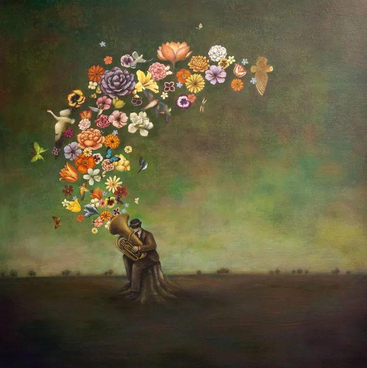 越南画家杜伊·怀恩的空灵绘画插图1