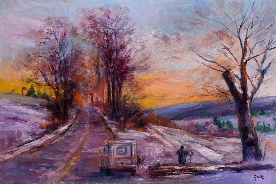 风景油画丨美国艺术家乔治·加洛的风景油画作品插图29
