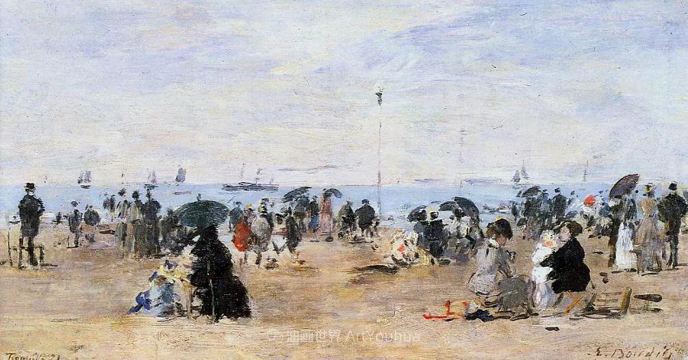 法国最早印象派画家欧仁·布丹,曾教莫奈写生!插图178