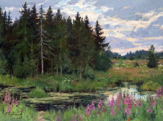 """岁月静好,俄罗斯"""" 小希施金 """" 的自然风景油画,美极了!插图5"""