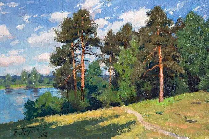 """岁月静好,俄罗斯"""" 小希施金 """" 的自然风景油画,美极了!插图75"""