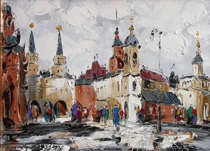 俄罗斯画家 弗拉基米尔·苏科瓦蒂 刮刀油画作品欣赏插图69