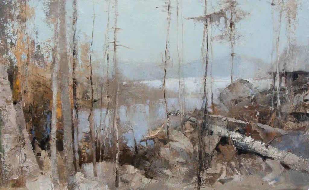笔触率性,优雅朦胧的风景油画,迷人!插图19