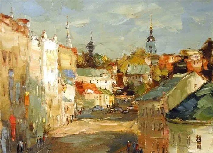 俄罗斯画家 弗拉基米尔·苏科瓦蒂 刮刀油画作品欣赏插图47