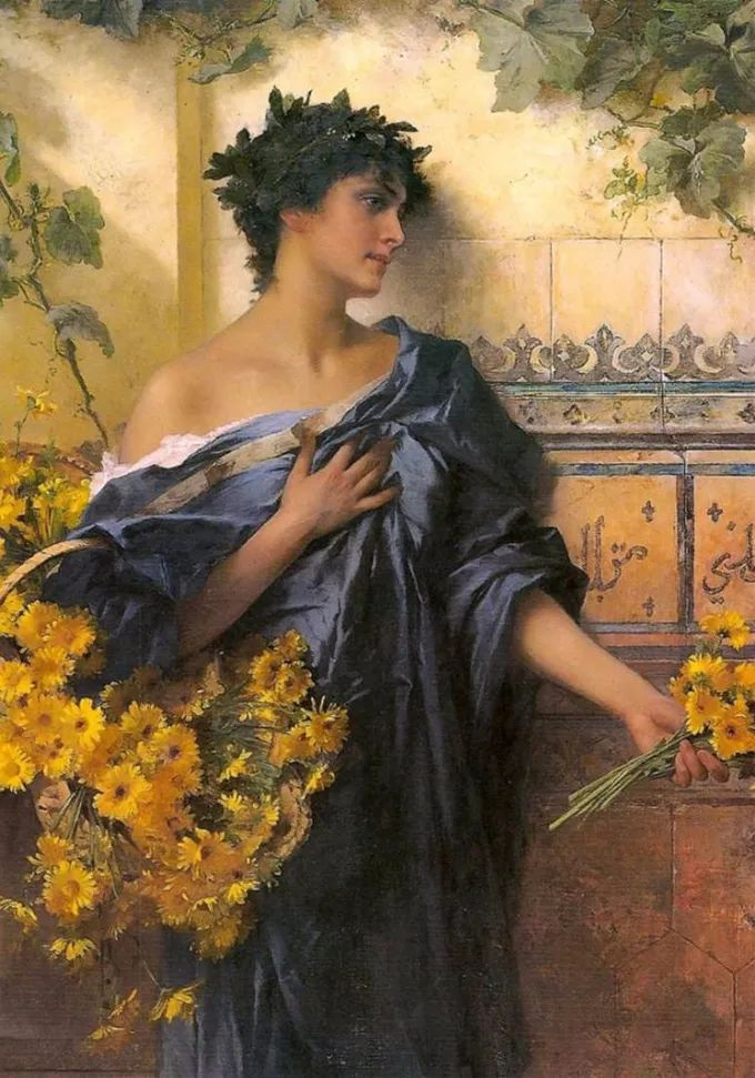 德国画家康拉德油画里的优雅女子,美!插图45