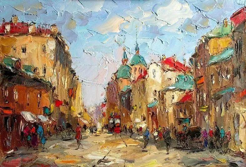 俄罗斯画家 弗拉基米尔·苏科瓦蒂 刮刀油画作品欣赏插图27