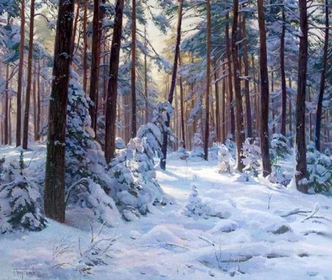 """岁月静好,俄罗斯"""" 小希施金 """" 的自然风景油画,美极了!插图109"""