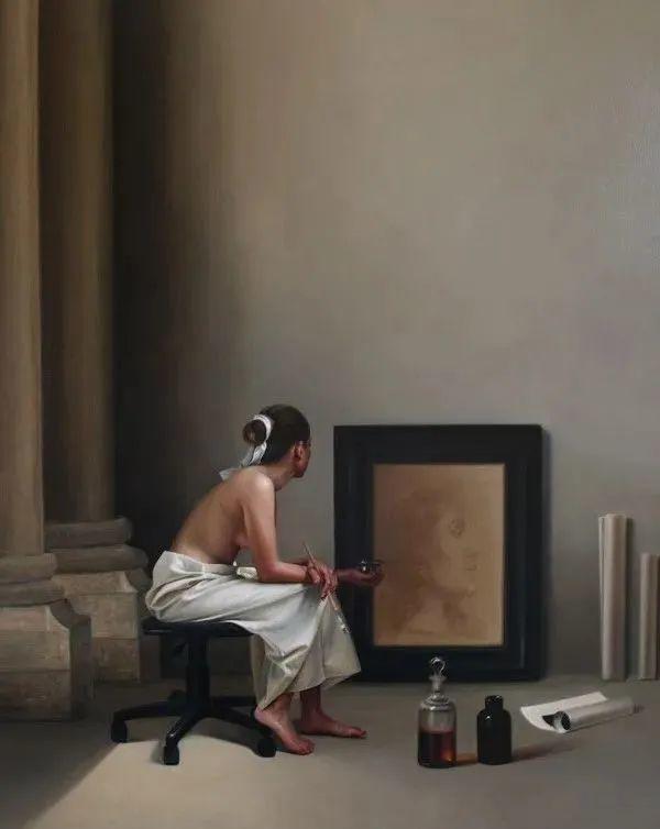 秘鲁自学成才艺术家的写实油画,展现着油画人物不同的美插图69