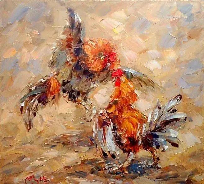 俄罗斯画家 弗拉基米尔·苏科瓦蒂 刮刀油画作品欣赏插图77