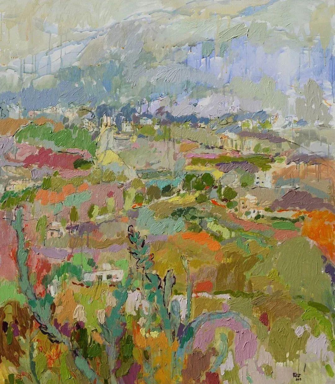 她的油画作品色彩丰富,充满爱意插图55