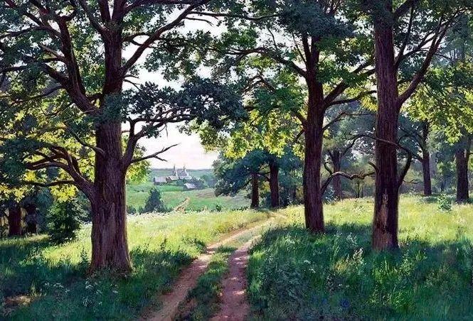 """岁月静好,俄罗斯"""" 小希施金 """" 的自然风景油画,美极了!插图37"""