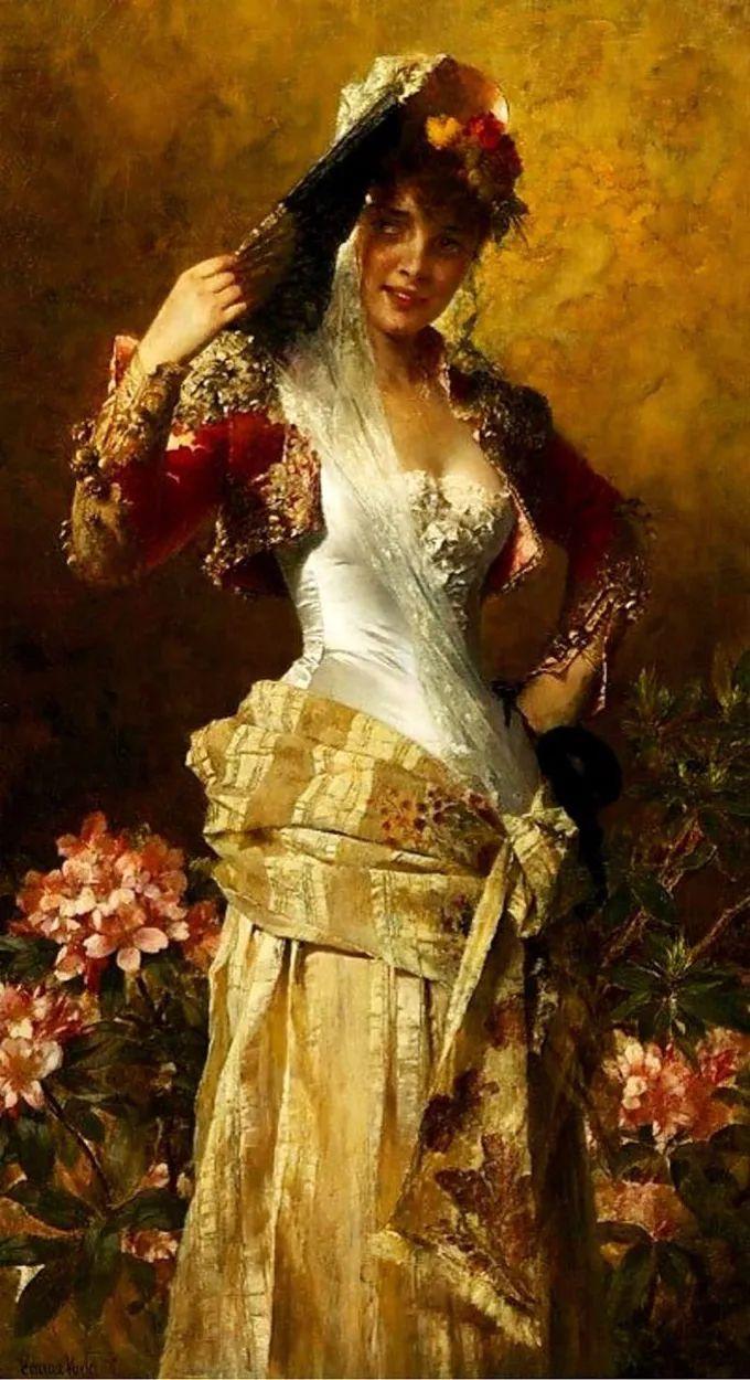 德国画家康拉德油画里的优雅女子,美!插图71