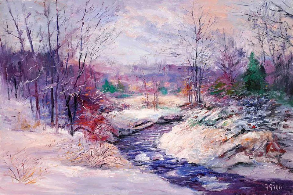风景油画丨美国艺术家乔治·加洛的风景油画作品插图13