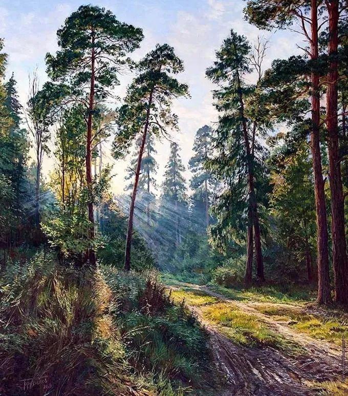 """岁月静好,俄罗斯"""" 小希施金 """" 的自然风景油画,美极了!插图31"""