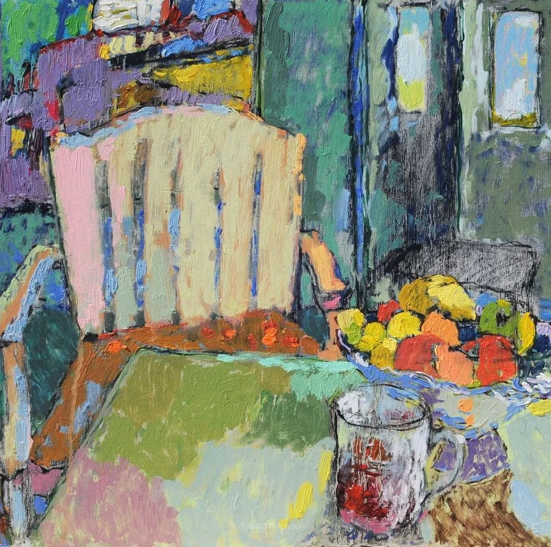 她的油画作品色彩丰富,充满爱意插图59