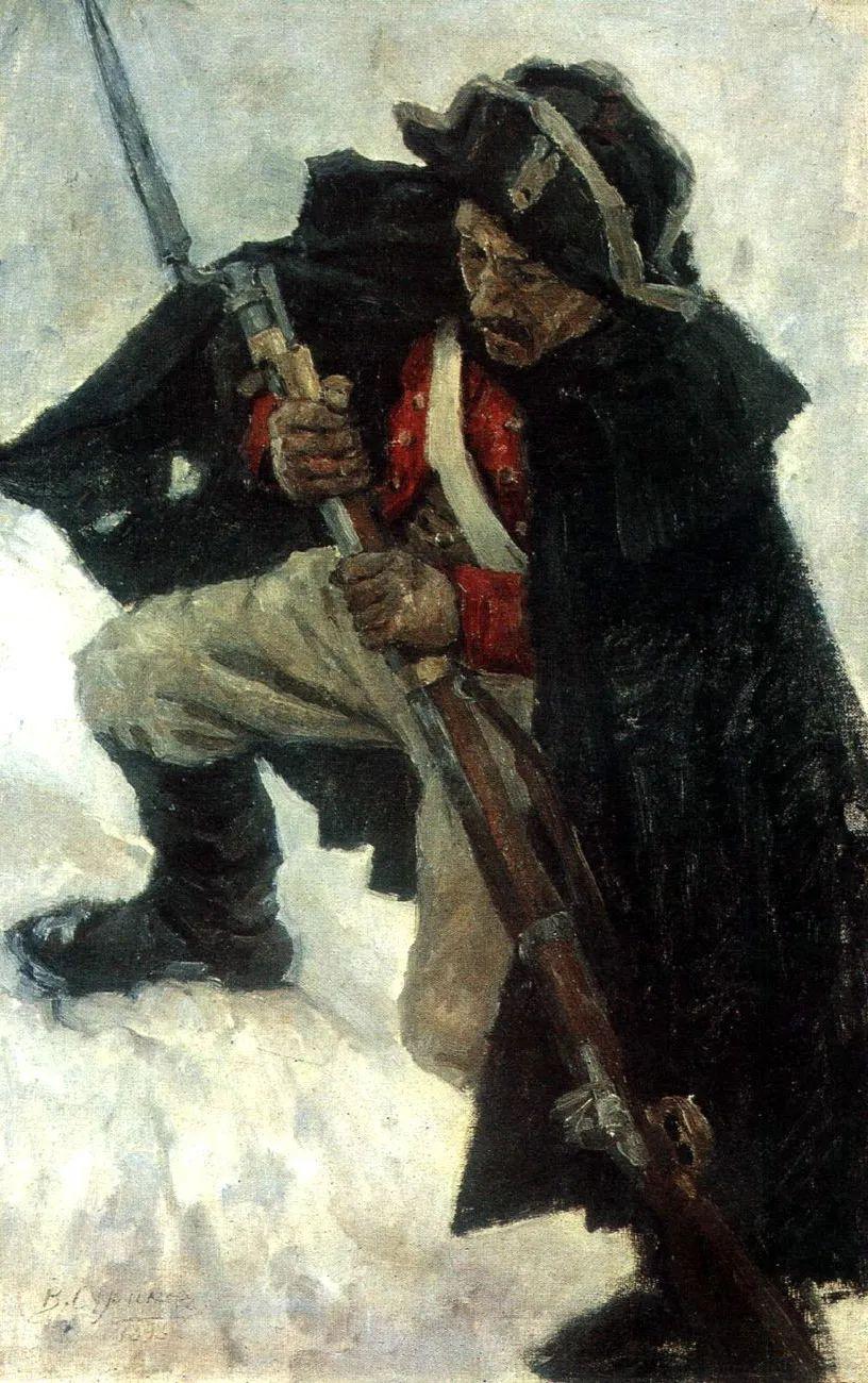 俄罗斯画坛先驱人物,瓦西里·苏里科夫人物作品选粹插图49