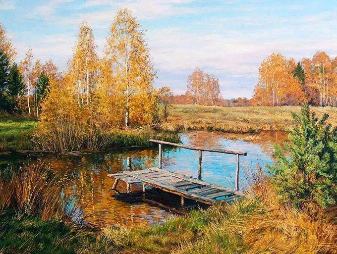 """岁月静好,俄罗斯"""" 小希施金 """" 的自然风景油画,美极了!插图61"""