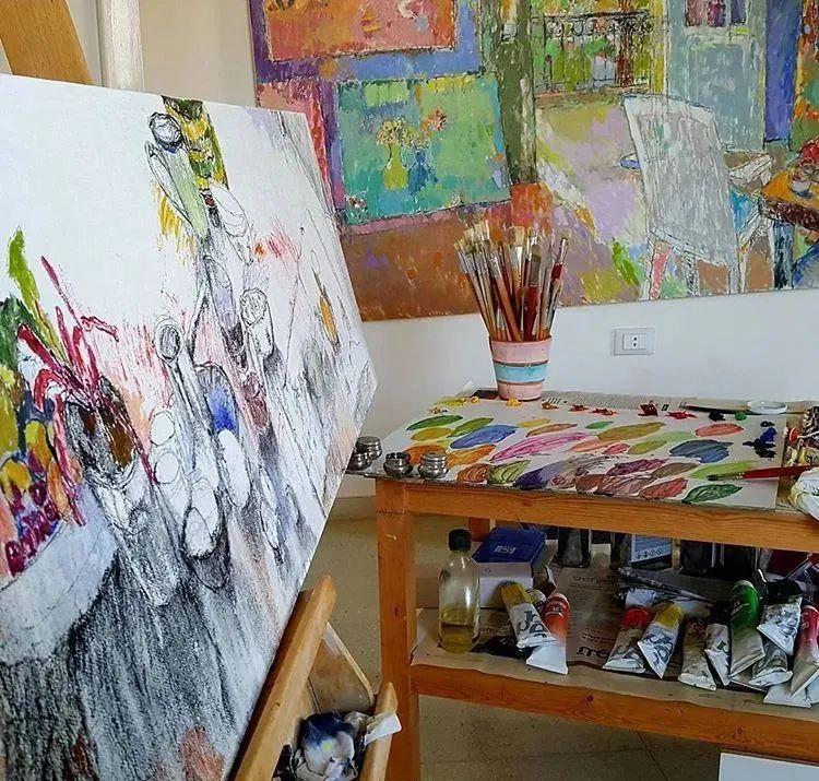 她的油画作品色彩丰富,充满爱意插图19