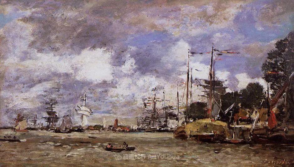 法国最早印象派画家欧仁·布丹,曾教莫奈写生!插图166
