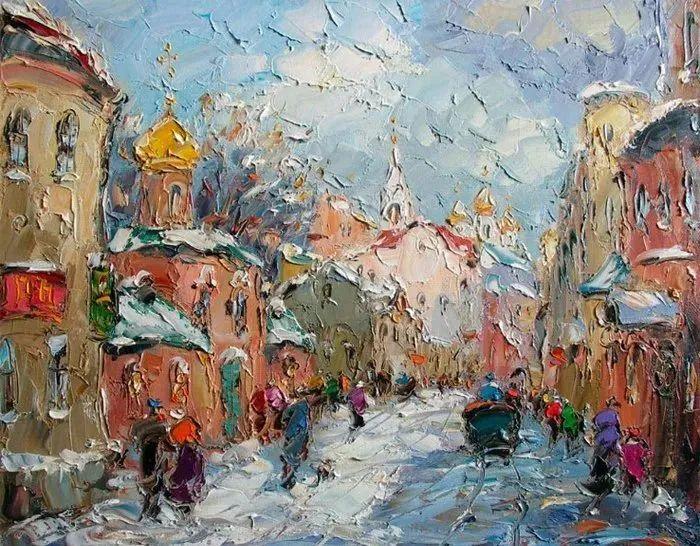 俄罗斯画家 弗拉基米尔·苏科瓦蒂 刮刀油画作品欣赏插图51