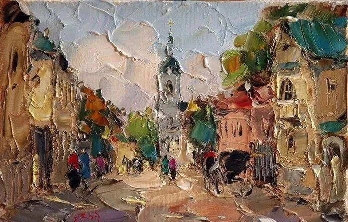 俄罗斯画家 弗拉基米尔·苏科瓦蒂 刮刀油画作品欣赏插图83