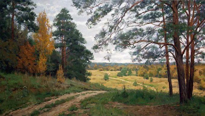 """岁月静好,俄罗斯"""" 小希施金 """" 的自然风景油画,美极了!插图89"""