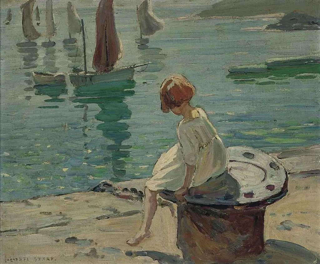 充满着写意风格的绘画,20世纪英国最伟大的女画家之一夏普插图55