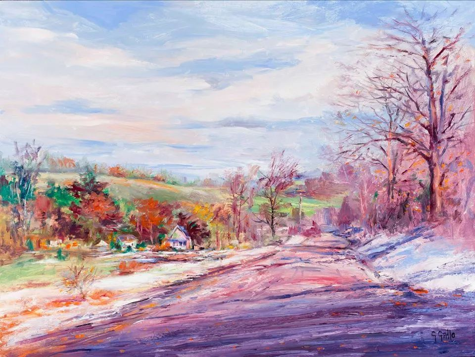 风景油画丨美国艺术家乔治·加洛的风景油画作品插图33