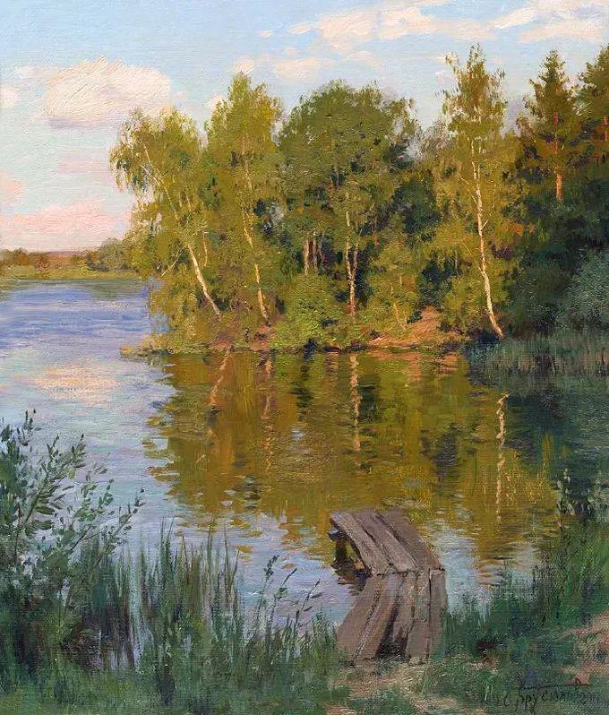 """岁月静好,俄罗斯"""" 小希施金 """" 的自然风景油画,美极了!插图115"""