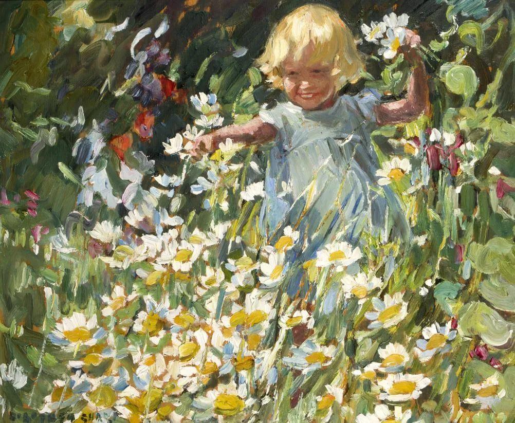 充满着写意风格的绘画,20世纪英国最伟大的女画家之一夏普插图23