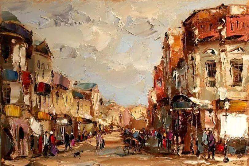 俄罗斯画家 弗拉基米尔·苏科瓦蒂 刮刀油画作品欣赏插图45
