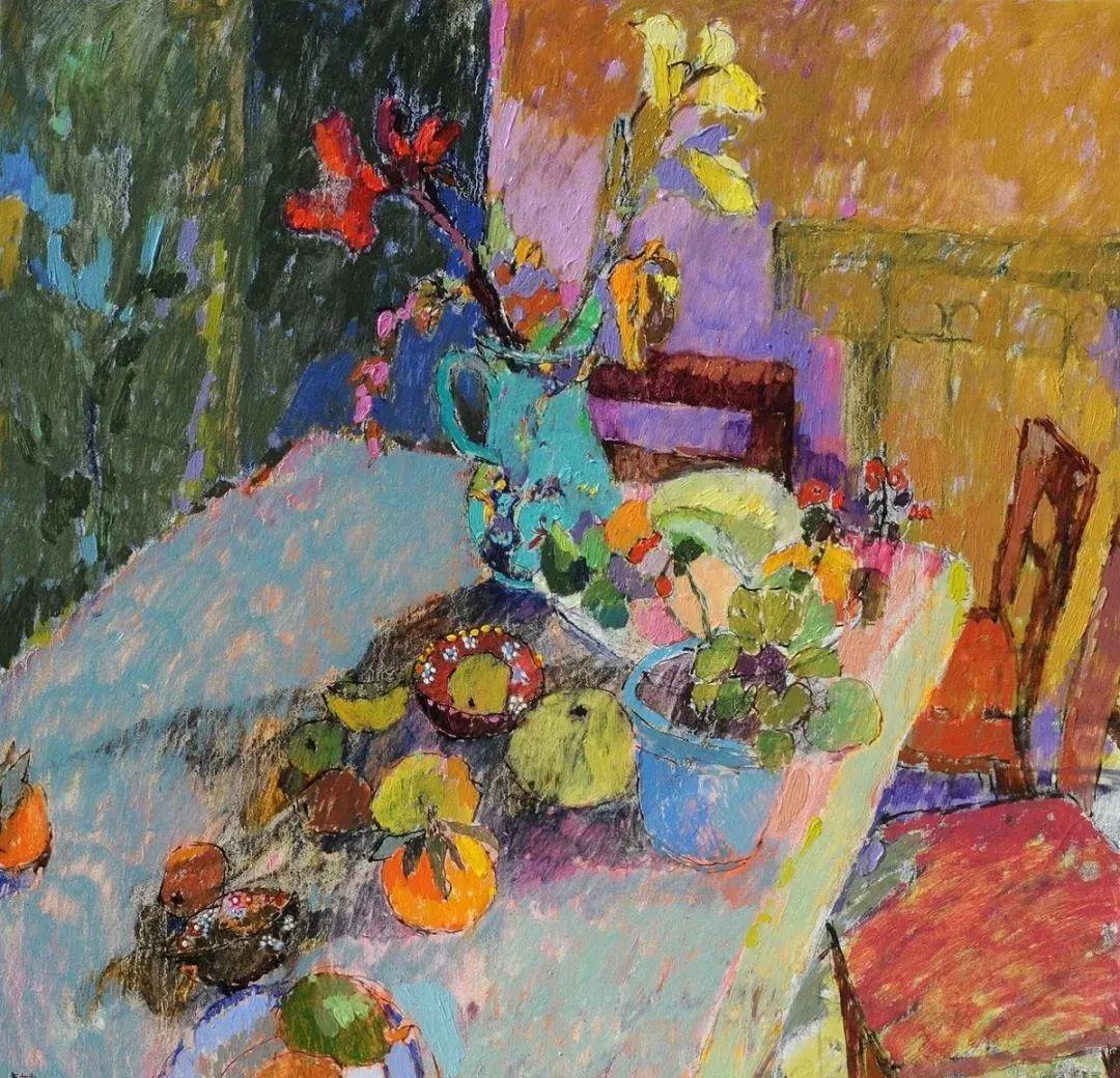 她的油画作品色彩丰富,充满爱意插图15