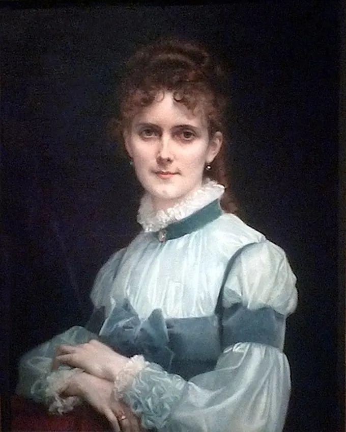 德国画家康拉德油画里的优雅女子,美!插图39