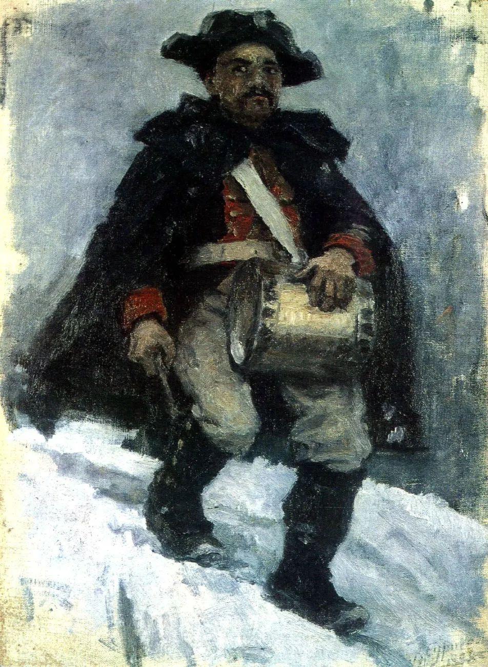俄罗斯画坛先驱人物,瓦西里·苏里科夫人物作品选粹插图48
