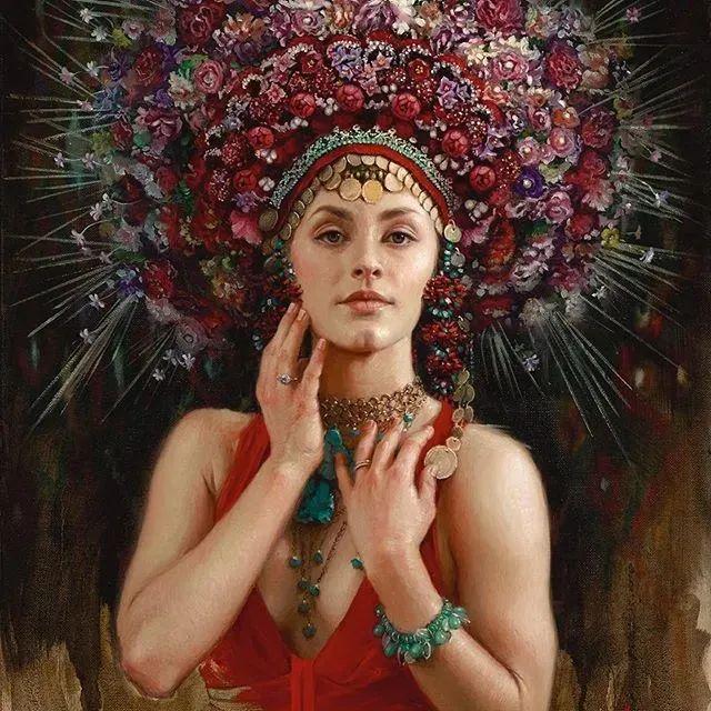美女画家笔下富有感染力、戏剧性的唯美油画!插图1