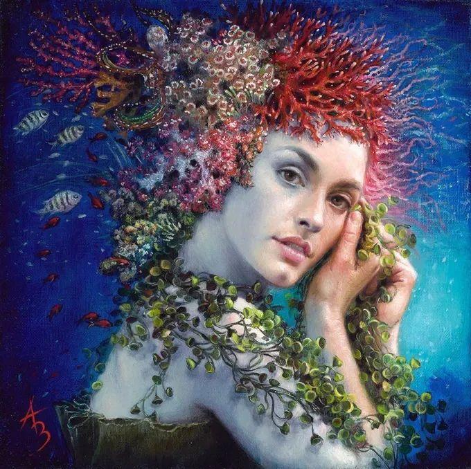 美女画家笔下富有感染力、戏剧性的唯美油画!插图2