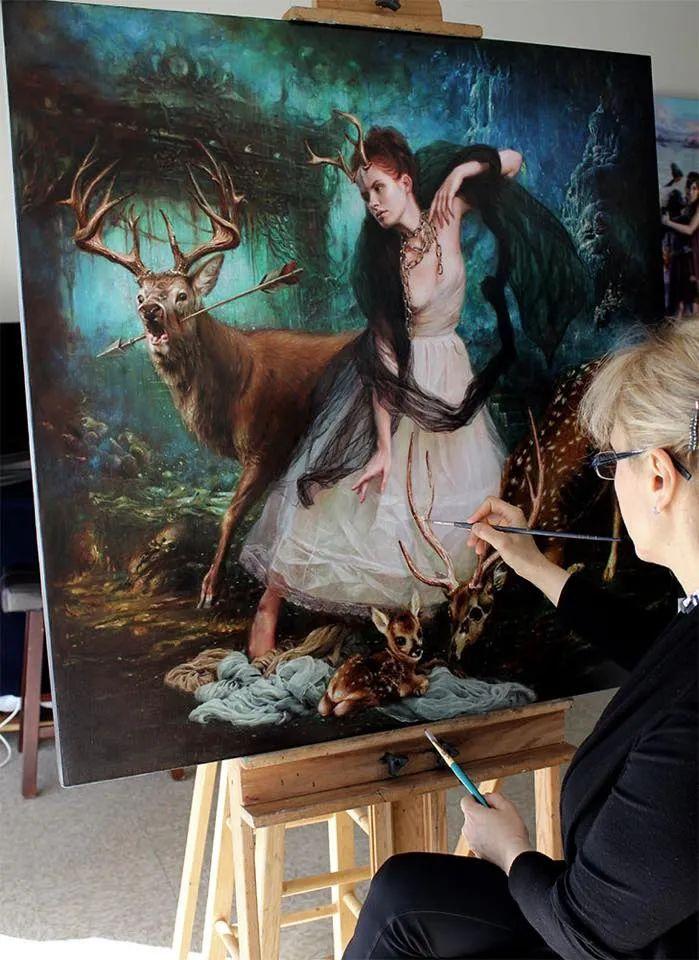 美女画家笔下富有感染力、戏剧性的唯美油画!插图7