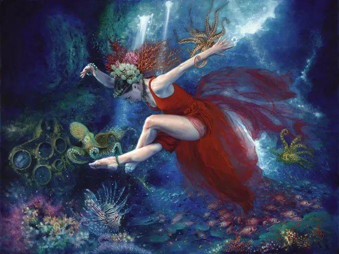 美女画家笔下富有感染力、戏剧性的唯美油画!插图8