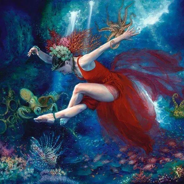 美女画家笔下富有感染力、戏剧性的唯美油画!插图9