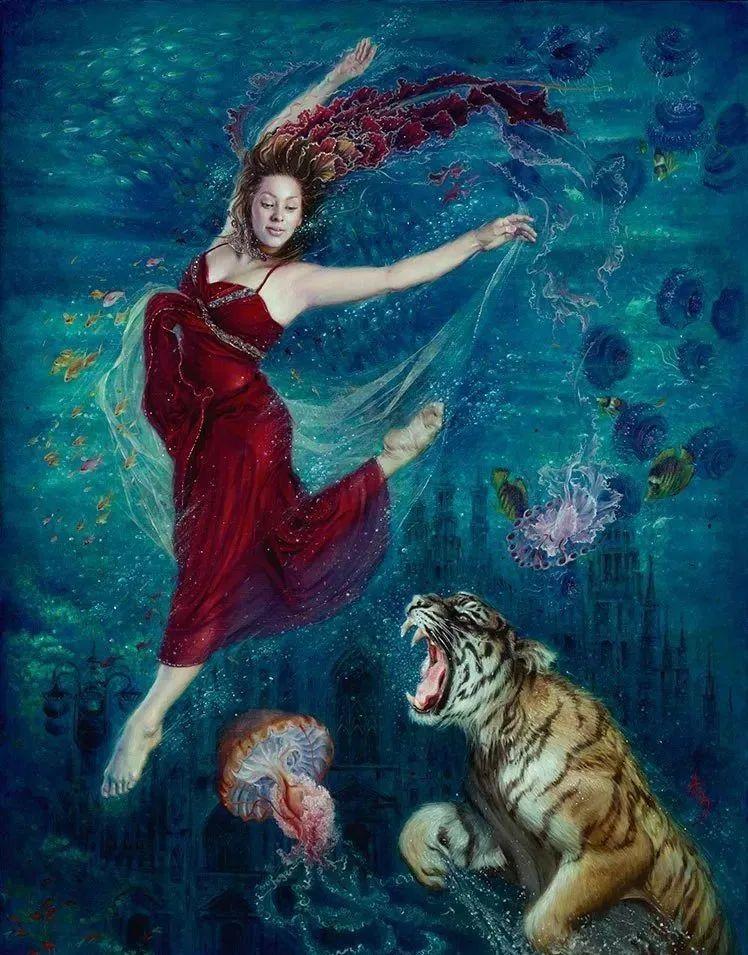 美女画家笔下富有感染力、戏剧性的唯美油画!插图13
