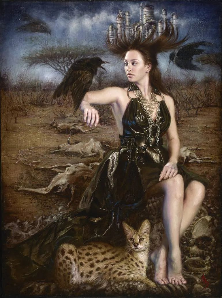 美女画家笔下富有感染力、戏剧性的唯美油画!插图18