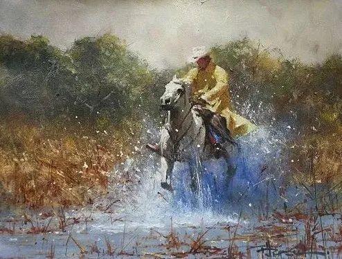 奔放的牛仔:罗伯特 黑根 的澳大利亚风情油画插图3