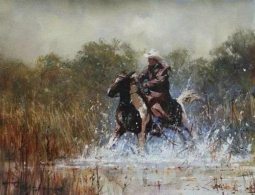 奔放的牛仔:罗伯特 黑根 的澳大利亚风情油画插图7