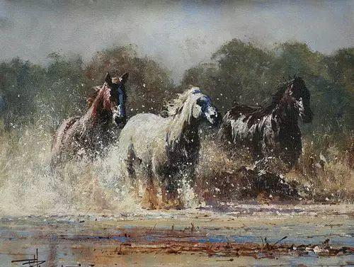 奔放的牛仔:罗伯特 黑根 的澳大利亚风情油画插图9