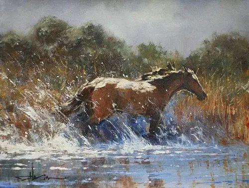 奔放的牛仔:罗伯特 黑根 的澳大利亚风情油画插图11